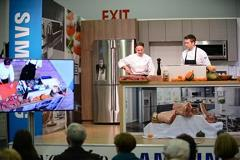 Presenters on the Cooking Stage