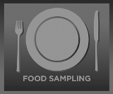 Food Samping Button